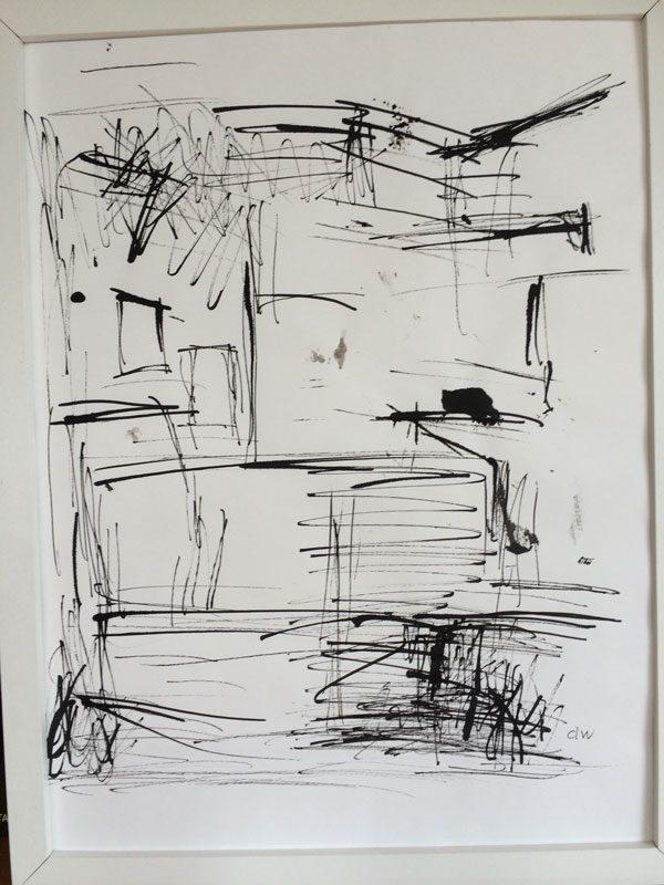 Douglas Wiberg, Teckning