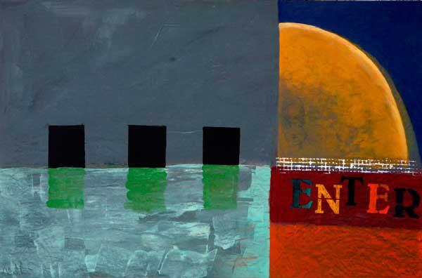 Enter - Målning av Erik Nordström
