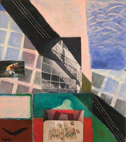 Flyktväg - Målning av Erik Nordström