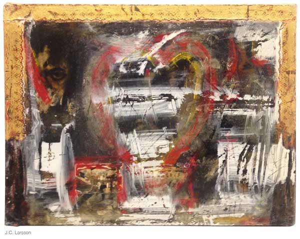 Målning vid namn Hjärta av guld av JC Larsson - Medlem i Dymlingen
