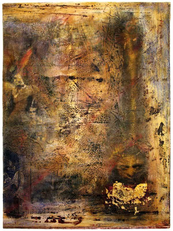 Målning vi namn Napolitansk Madonna av Jc Larsson - Medlem i Dymlingen