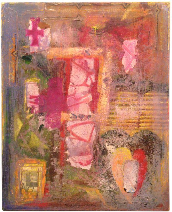 Målning vid namn Rosa av Jc Larsson - medlem i Dymlingen