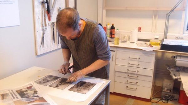Unga grafiker - Björn Skallström i arbete